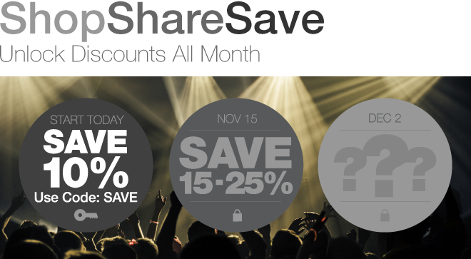 Shop, Share & Save - Unlock Discounts All Month